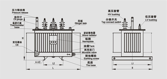 油浸式变压器内部结构图